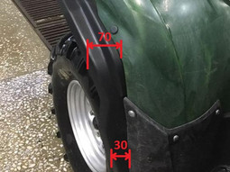 Fender extension for ATV Yamaha Grizzly